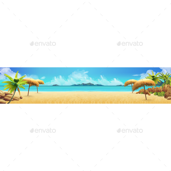 Sea Panorama Tropical Beach - Landscapes Nature