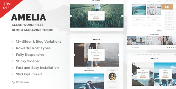 Amelia – Clean Blog & Magazine WordPress Theme