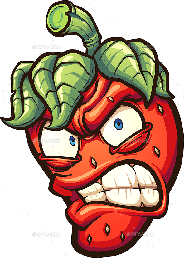 Angry Strawberry - Food Objects