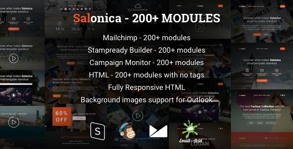 Salonica – Responsive Email Template with Mailchimp Editor & StampReady Builder
