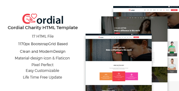 Cordial – Charity And Nonprofit HTML5 Template