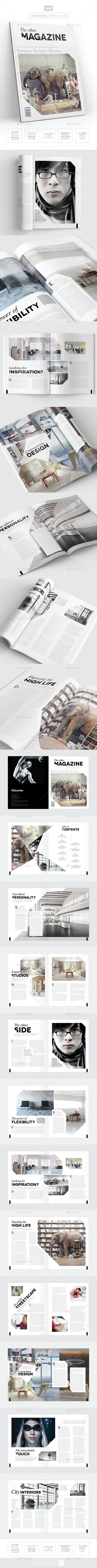 Magazine Template - InDesign 24 Page Layout V11 - Magazines Print Templates