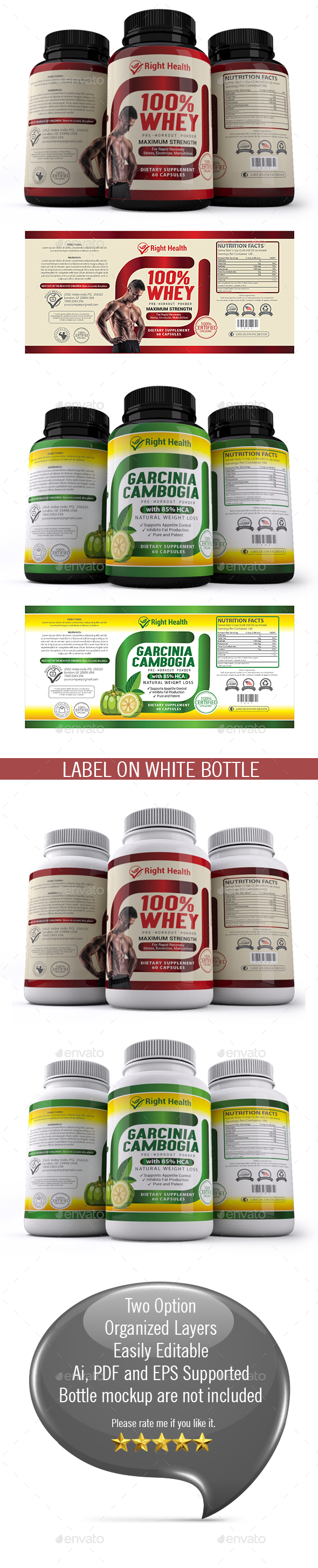 Supplement Label Templates 012 - Packaging Print Templates