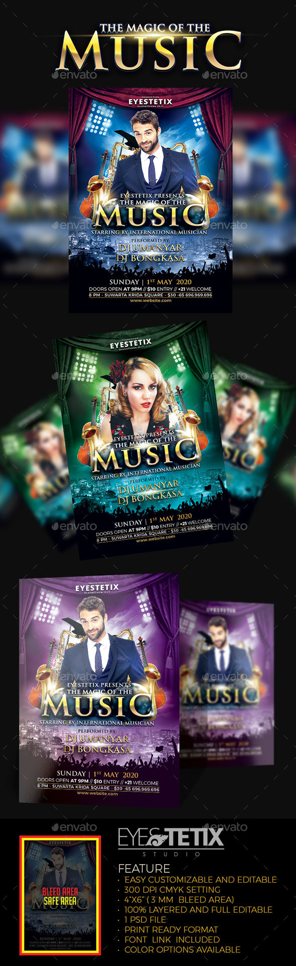 The Magic Of The Music Flyer - Concerts Events