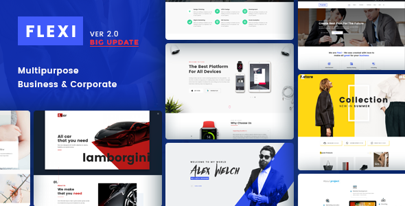 Flexi – Flexible Multipurpose Business PSD Template