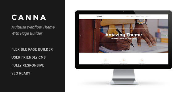 Image of Canna | Multiuse Webflow Template With Page Builder
