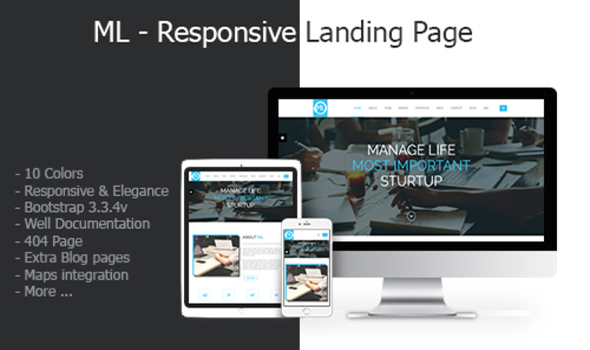 ML - Responsive Landing Page