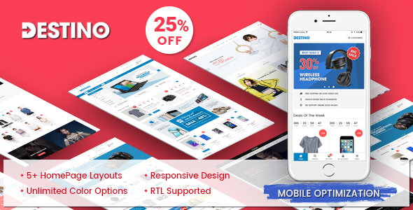 Destino – Detective Mobile-Specific Layouts in Premium Responsive Magento 2 Theme