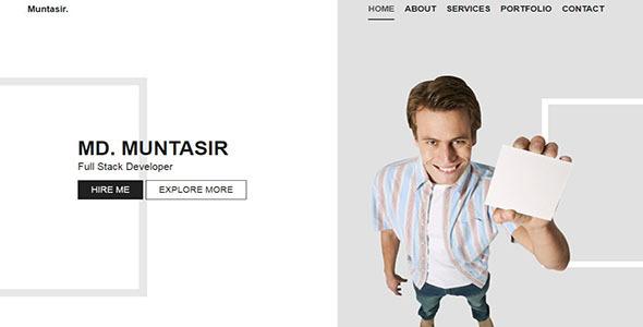ALEX-Personal Portfolio Template - Personal Site Templates