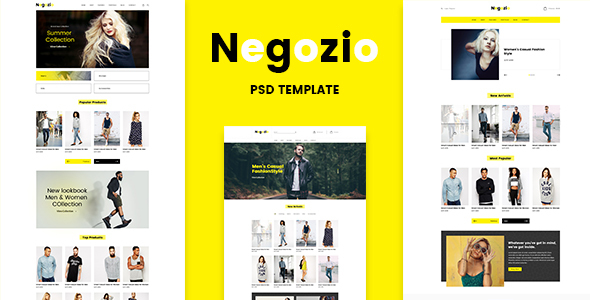 Negozio - Multi-purpose eCommerce PSD Temlate - Retail PSD Templates
