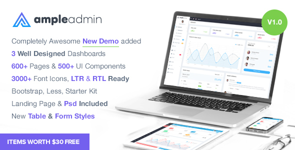 Ample Admin - Ultimate Dashboard Template - Admin Templates Site Templates