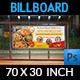 Restaurant Billboard Template Vol.10 - GraphicRiver Item for Sale