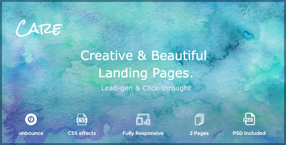 Image of Care - Non-profit & Creative unbounce Landing Page