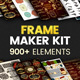 Frame Maker Kit | 900+ elements - GraphicRiver Item for Sale