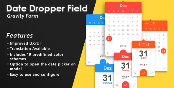 Gravity Forms Date Dropper Field - CodeCanyon Item for Sale