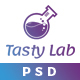 TastyLab Mobile Application Landing Page - ThemeForest Item for Sale