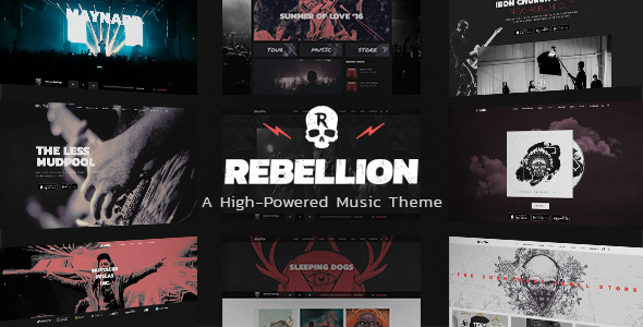 Rebellion – A High-powered Theme for Musicians, Bands, and Record Labels