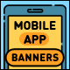 Mobile App Flat Banners - GraphicRiver Item for Sale