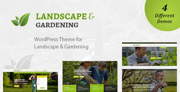 Landscape – WordPress Theme for Gardening & Landscaping