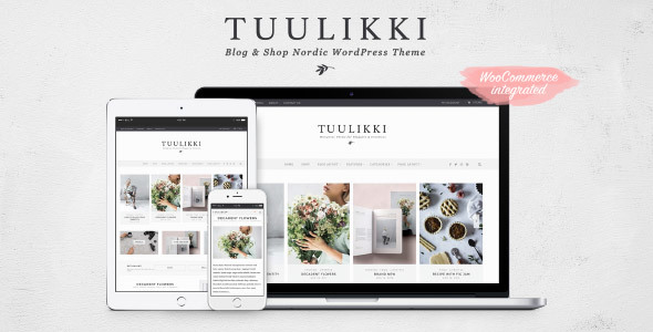 TUULIKKI Nordic Blog & Shop WordPress Theme