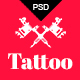 Tattoo - Tattoo Studio PSD Template - ThemeForest Item for Sale
