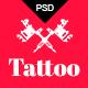 Tattoo - Tattoo Studio PSD Template Nulled