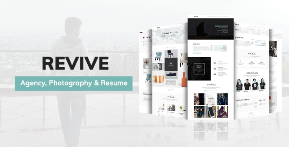 Minimal Portfolio Template for Agency, Photography and Resume – Revive