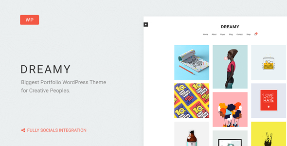 Dreamy – Biggest Portfolio WordPress Theme