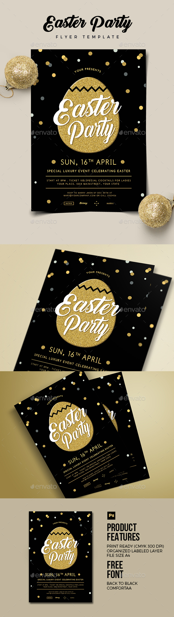 Easter Party Flyer 02 - Clubs & Parties Events