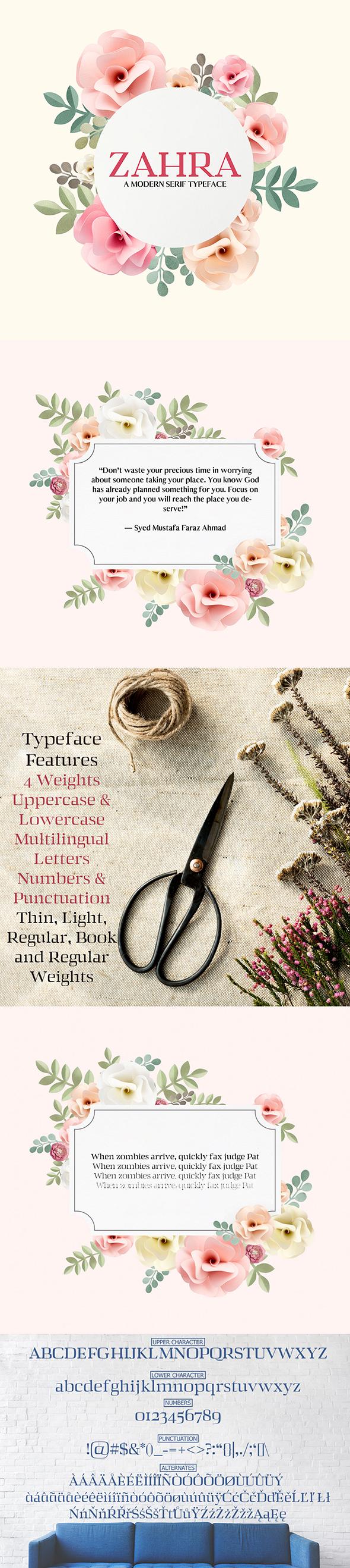 Zahra Serif Typeface - Serif Fonts