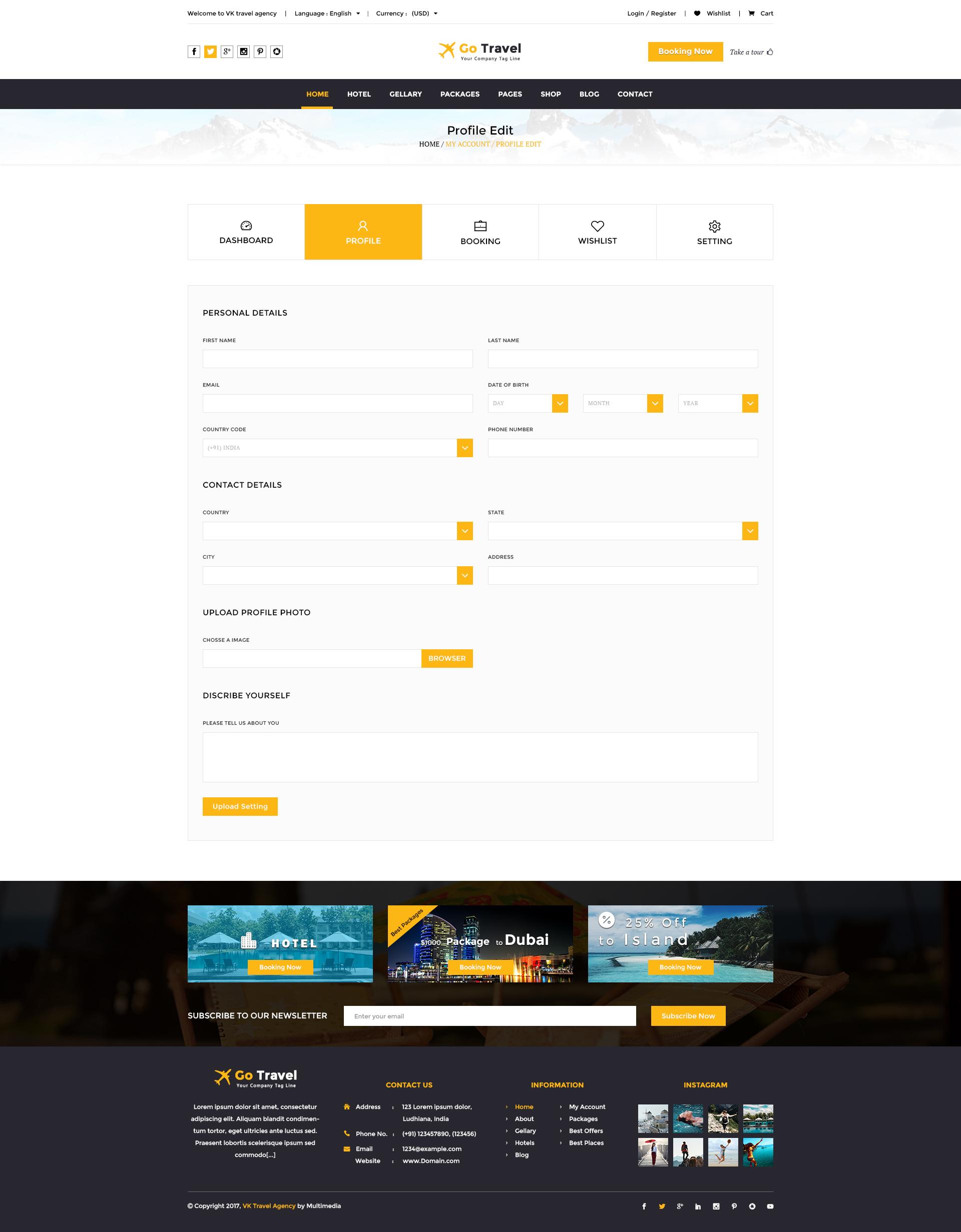 Travel PSD Template by TmdStudio | ThemeForest