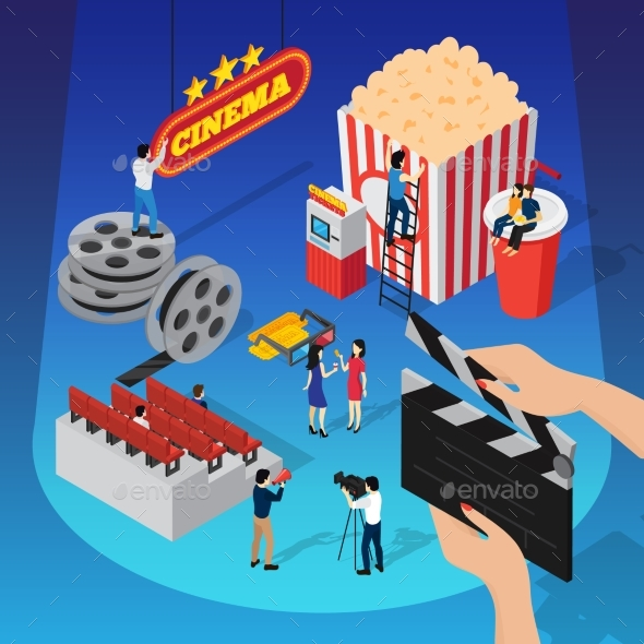 Spotlight Cinema Isometric Concept - Miscellaneous Conceptual