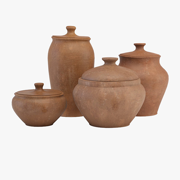 Tableware clay - 3DOcean Item for Sale