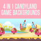 4 in 1 Candy Land Bagckgrounds - GraphicRiver Item for Sale