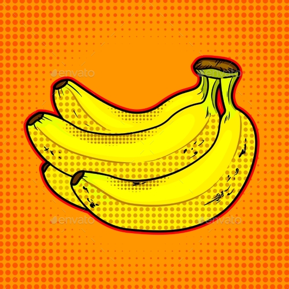 Bananas Fruit Vector Illustration - Food Objects