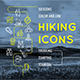 Hiking Icons - GraphicRiver Item for Sale