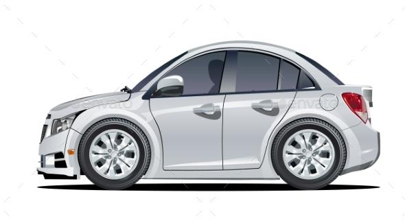 Cartoon Vector Car - Man-made Objects Objects