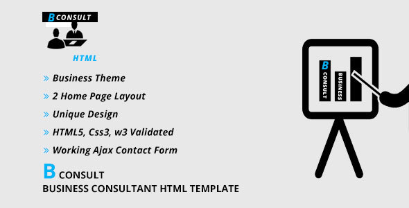 B CONSULT - Business Consultant HTML Template