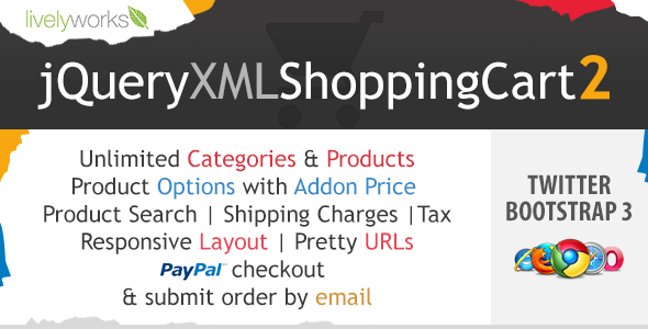 JQuery XML Shopping Cart - Store - Shop - product descriptive image