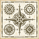 Vintage Compass Roses Set - GraphicRiver Item for Sale