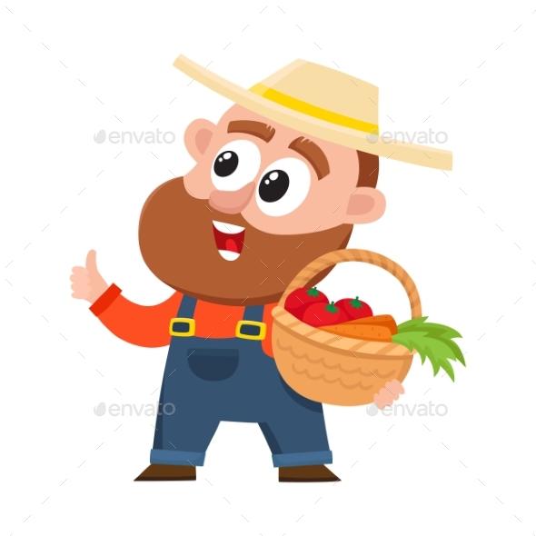 Gardener Character in Overalls - People Characters
