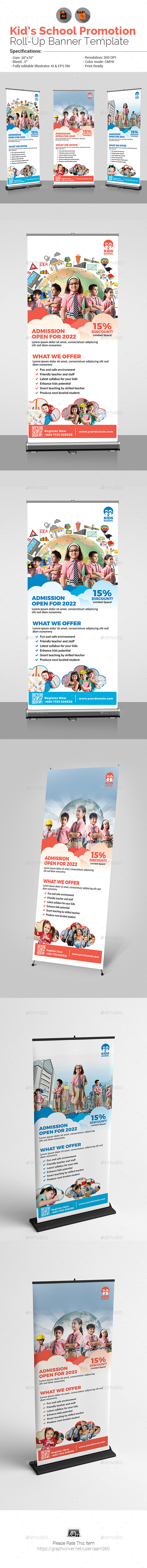 Junior School Promotion Roll-Up Banner - Signage Print Templates