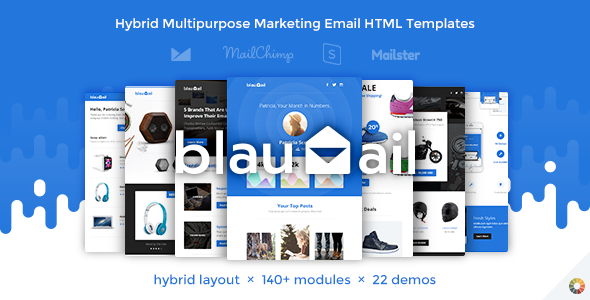 BlauMail - Hybrid Multipurpose Marketing Email HTML Templates