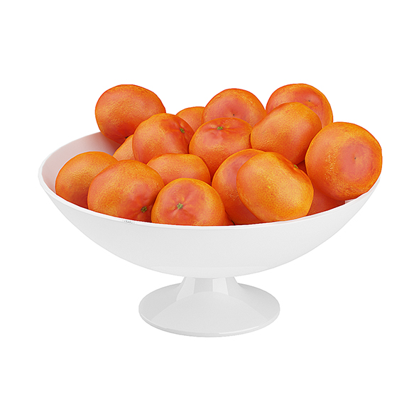 Bowl of Tangerines - 3DOcean Item for Sale