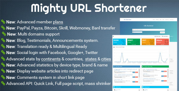 Mighty URL Shortener | Short URL Script by MightyScripts | CodeCanyon