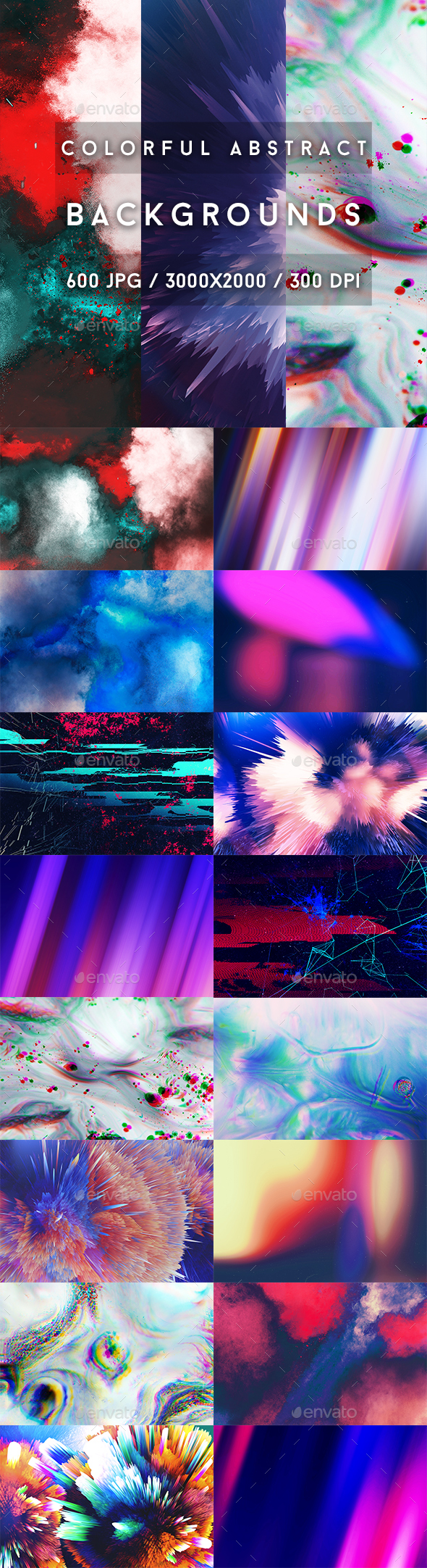 600 Colorful Abstract Backgrounds - Abstract Backgrounds