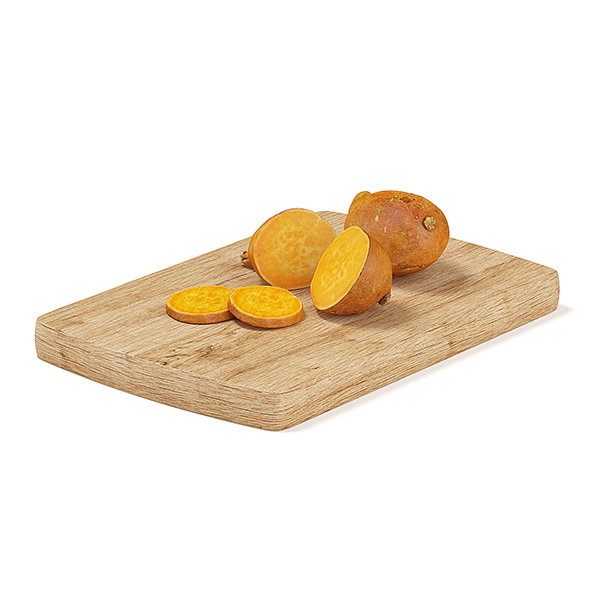 Sliced Yams on Wooden Board - 3DOcean Item for Sale