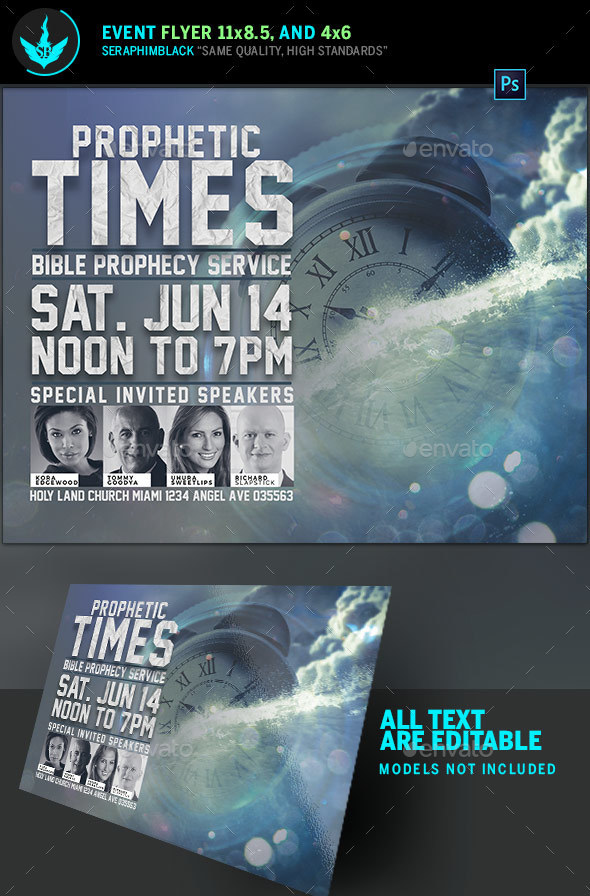 Prophetic Times Church Flyer Template - Church Flyers