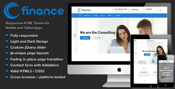 Finance – Accounting, Consulting & Business Website Template