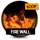 Fire Wall - Full Width Loop With Alpha - VideoHive Item for Sale